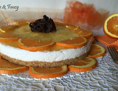 Torta crema yogurt e arancia