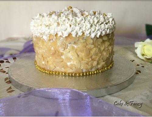 Torta panna e crema vaniglia