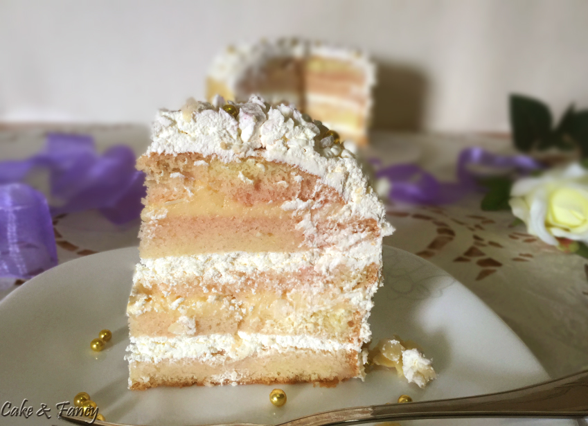 Torta panna e crema vaniglia C & F