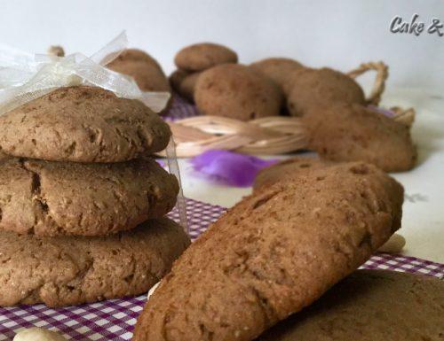 """Biscotti integrali con mandorle senza lattosio """"ricetta facile"""""""