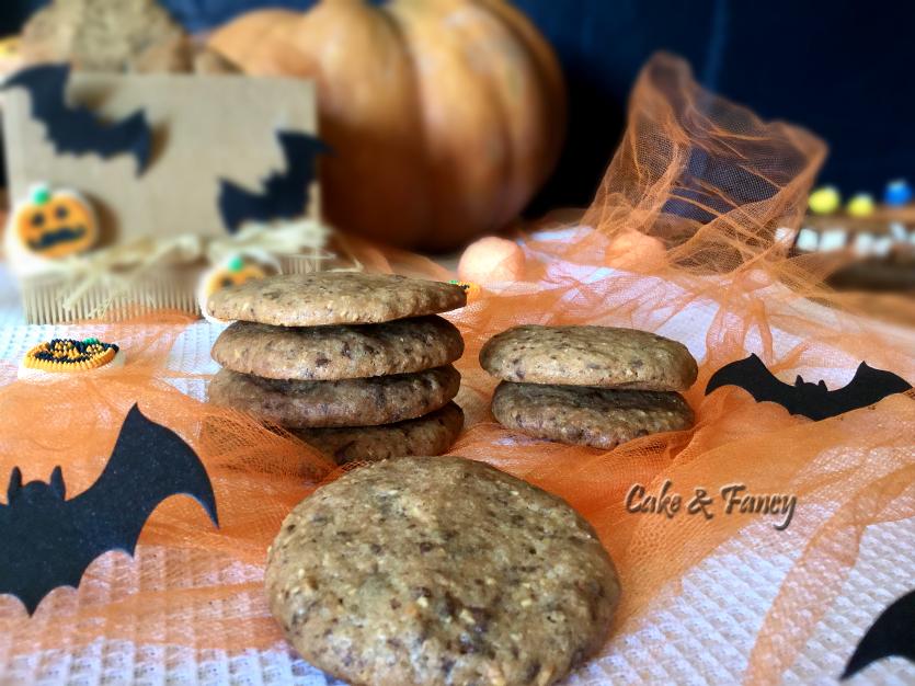Halloween-biscotti nocciole cioccoato