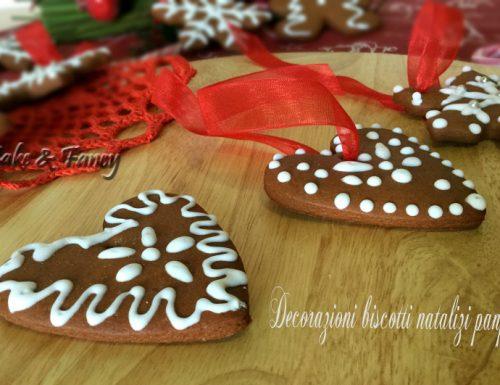 Biscotti natalizi panpepato – decorazioni per l'albero
