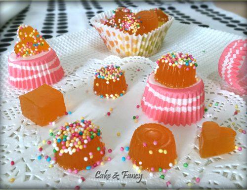 Caramelle gelèe all'arancia fatte in casa