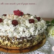 torta alla crema e panna