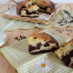 Torta variegata yogurt e cacao