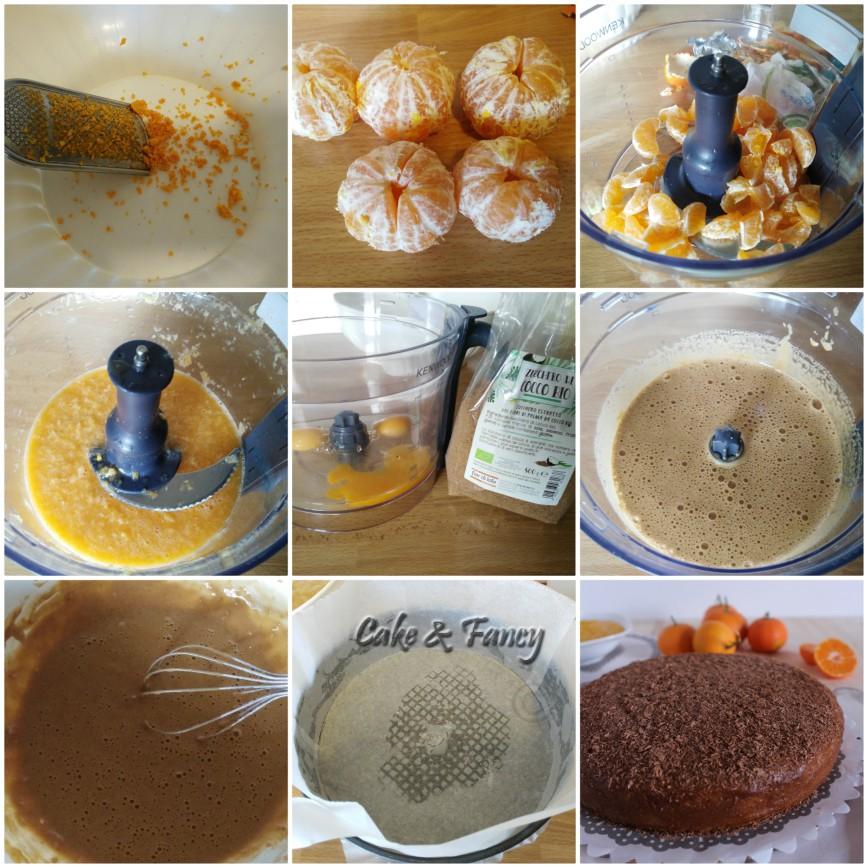 Procedimento torta mandarino e cioccolato