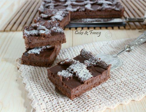 Crostata al cacao con ricotta e crema nocciola
