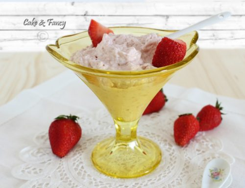 Crema fragole e mascarpone senza uova