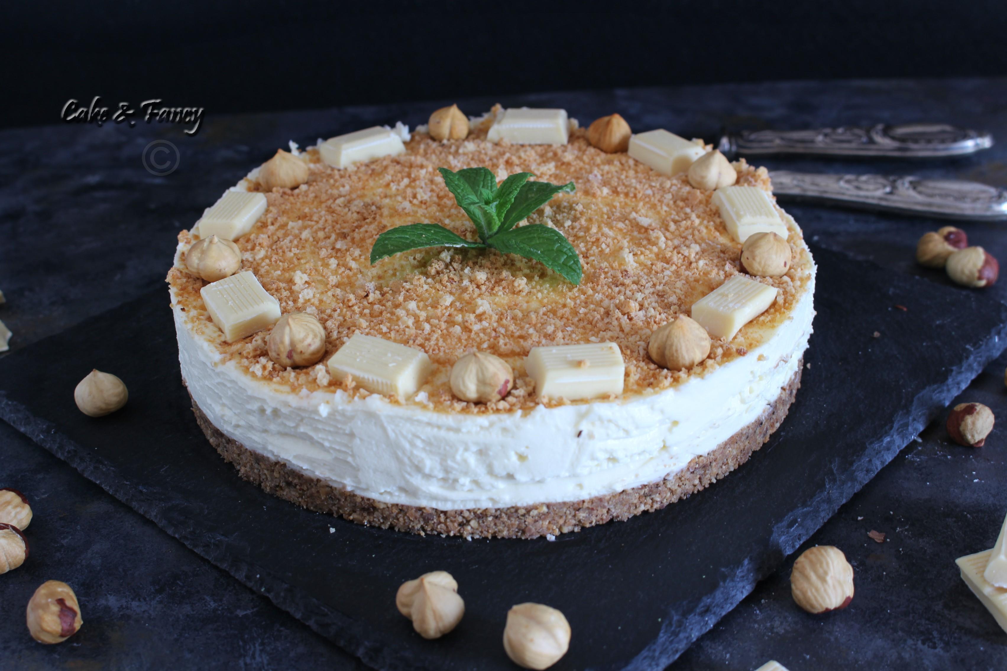 Cheesecake cioccolato bianco