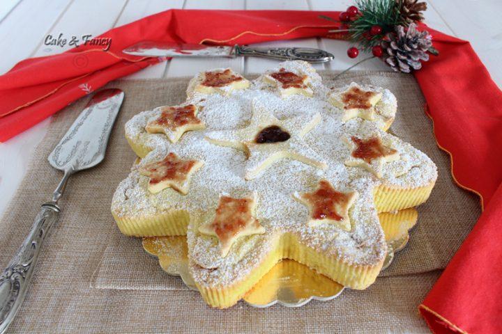 Crostata di Natale a stella