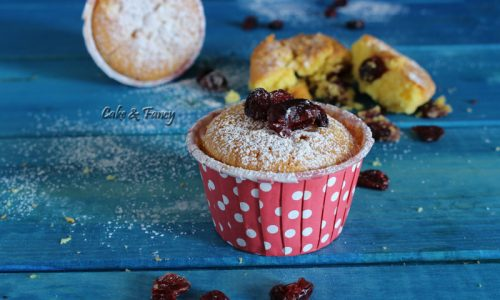 Muffin al mascarpone e mirtilli rossi