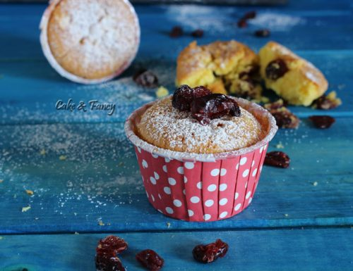Muffin al mascarpone e mirtilli rossi