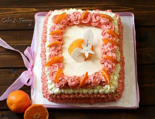 Torta con crema al mandarancio