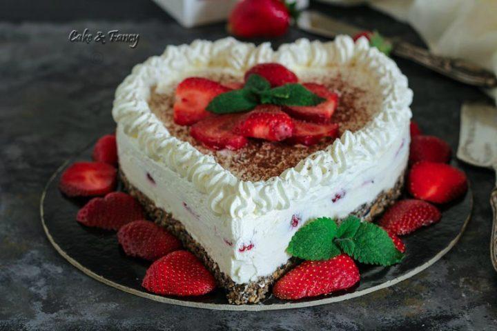 cheesecake cuor di fragola