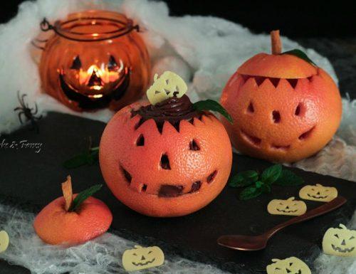Zucca pompelmo dessert per Halloween