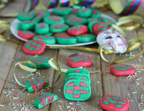 Biscotti colorati di carnevale