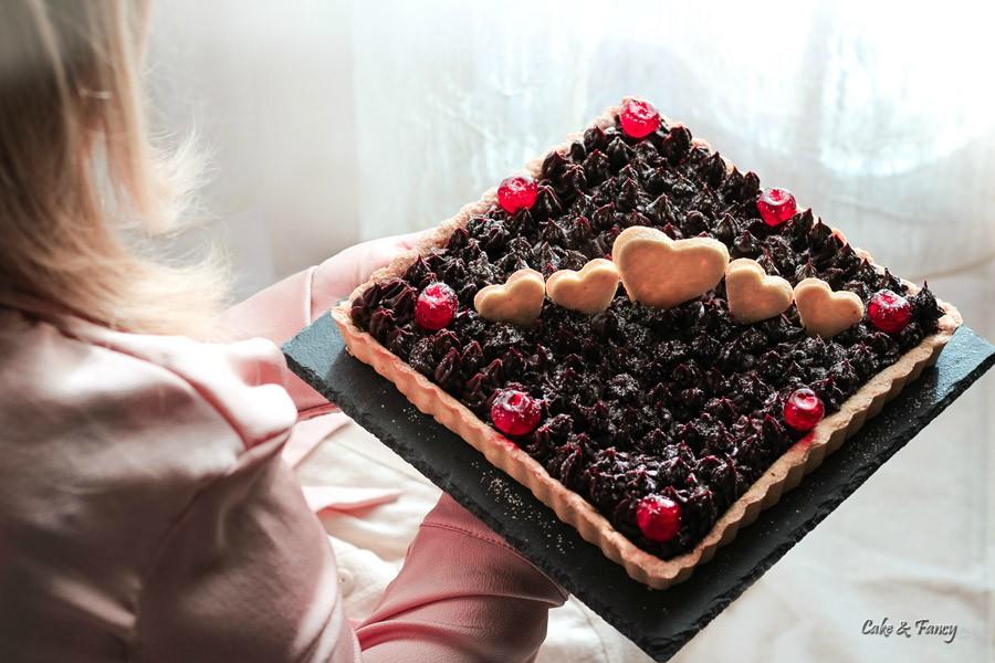 Crostata con ganache cioccolato fondente