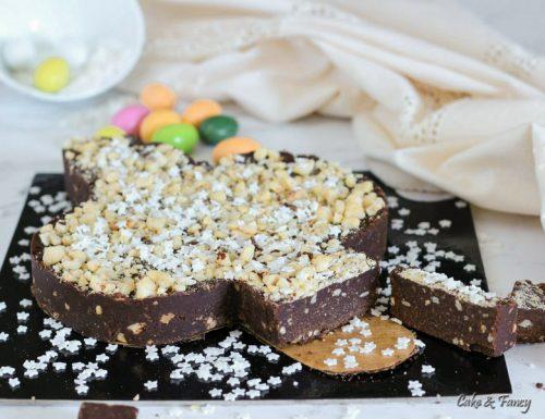 Colomba di cioccolato e biscotti