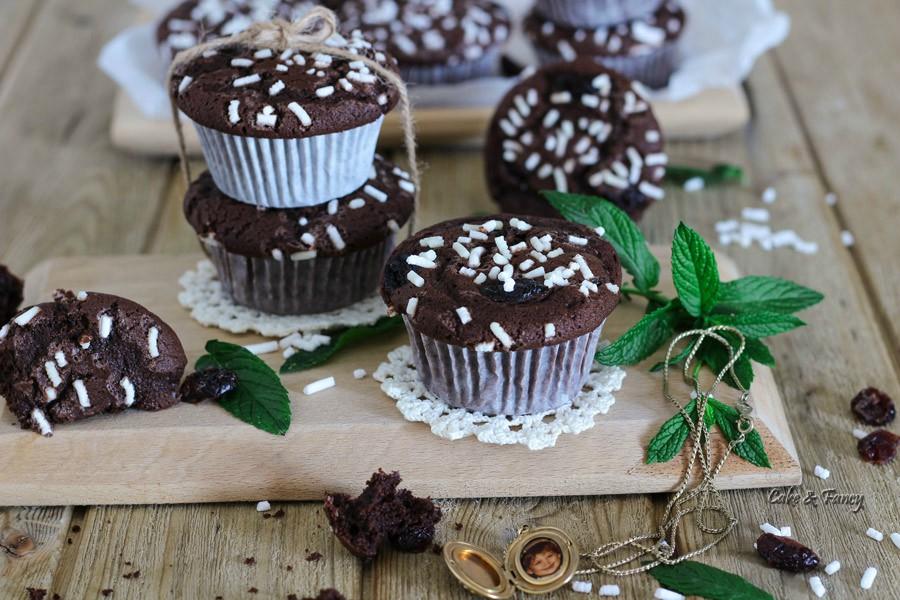 Muffin cacao e mirtilli