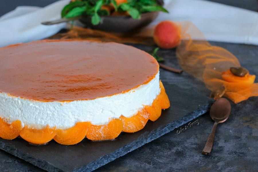 Torta fredda yogurt e albicocche