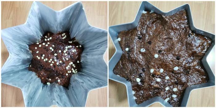 Pandoro al cacao e cioccolato