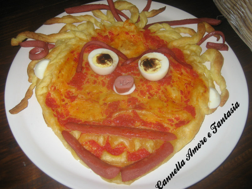 pizza halloween ridimensionata