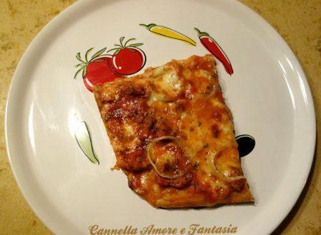 Pizza in teglia con farina di farro e lievito madre