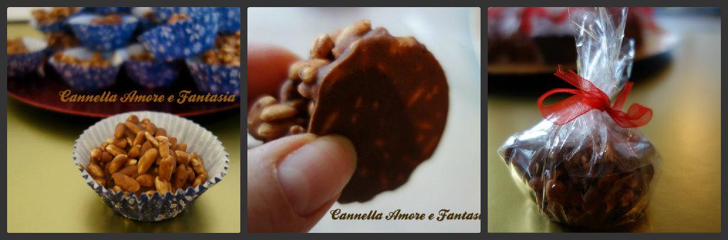 Collage cioccolattini di riso soffiato