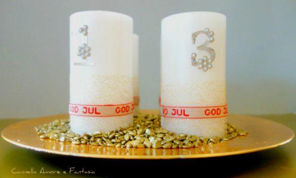 Prepariamo insieme le candele dell'avvento e il classico tè natalizio