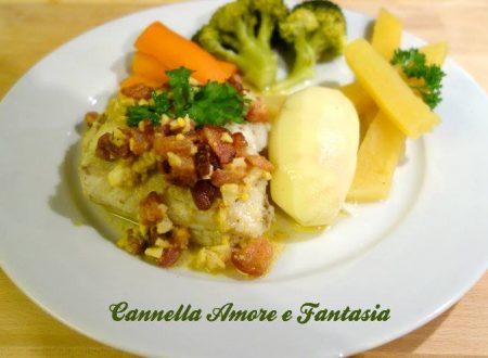 Filetto di Merluzzo al bacon o Torsk med baconsaus
