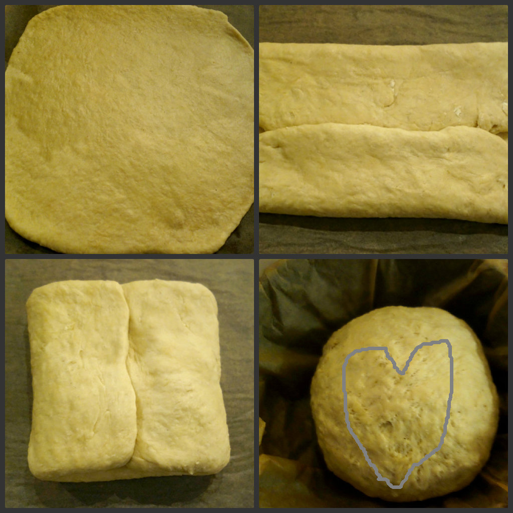 Collage hjerte brød
