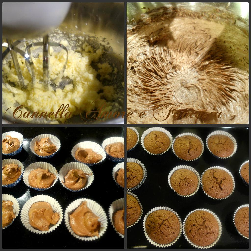Collage muffins al cioccolato