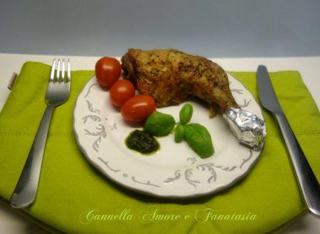 Cosce di pollo marinate al pesto