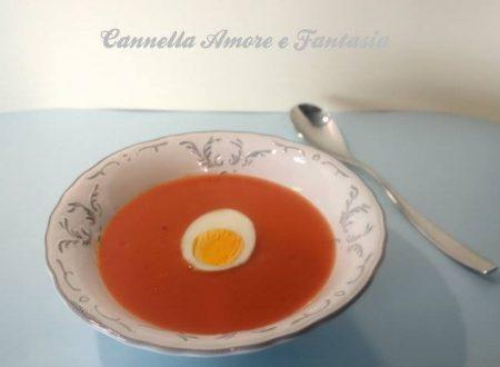 Vellutata al pomodoro o Hjemmelaget tomat suppe