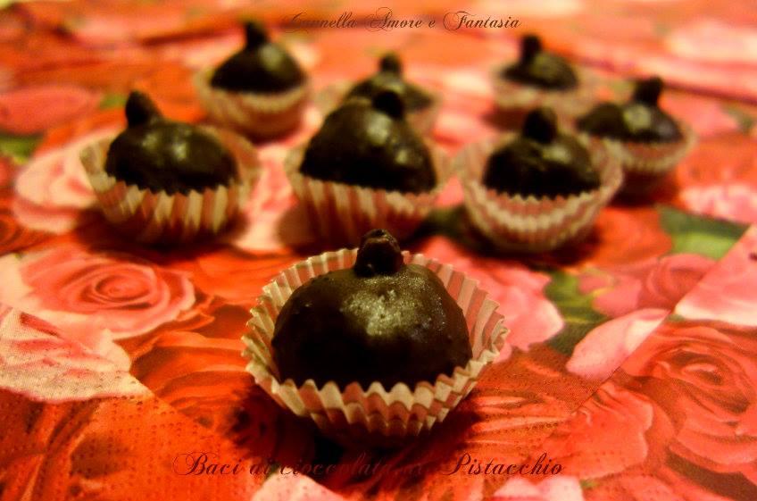 Baci di cioccolato e pistacchio