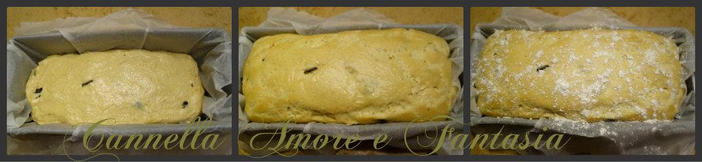 Collage di pane siciliano alle olive