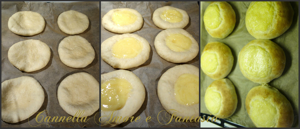 Le brioche alla crema alla vaniglia e cocco o skoleboller