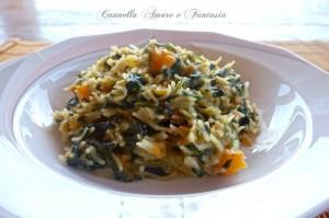 risotto zucca e spinaci 1+ la giusta 1