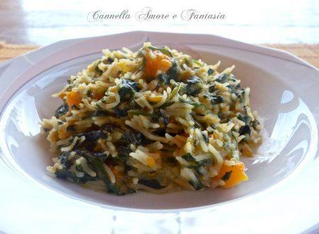 Risotto spinaci e zucca