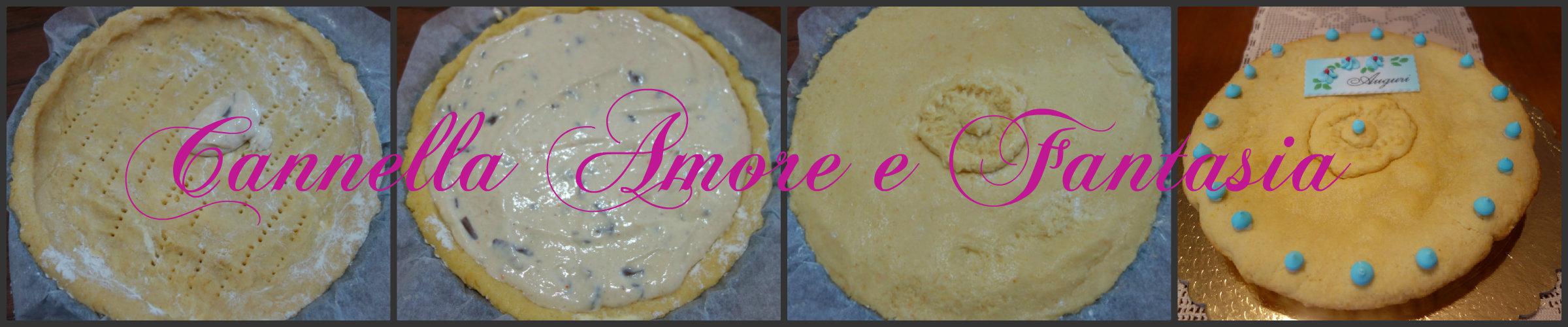 Collage cheesecake primavera ricotta e gianduia