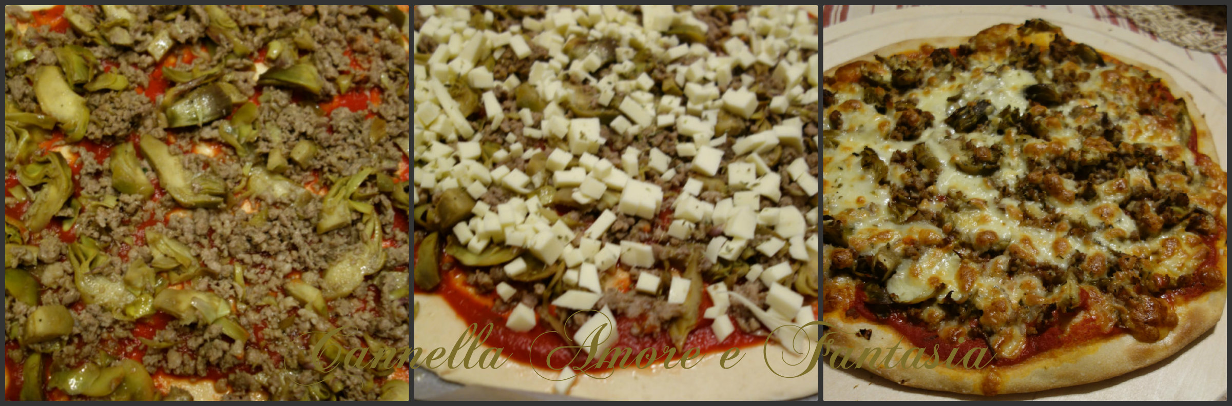 Collage salsiccia e carciofi 3