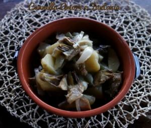 carciofi patate e cipolla 1