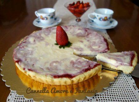 Cheesecake marmorizzato alle fragole