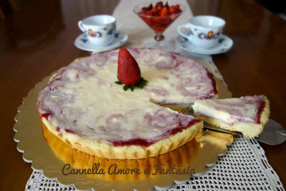 cheesecake ricotta e fragole la giusta