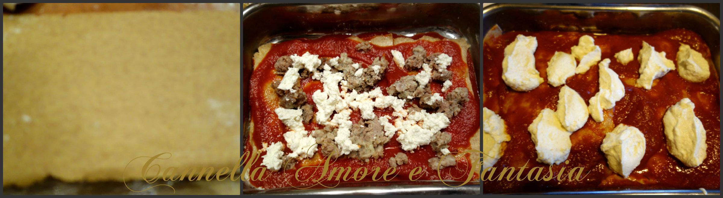 lasagne integrali con ricotta Collage finito