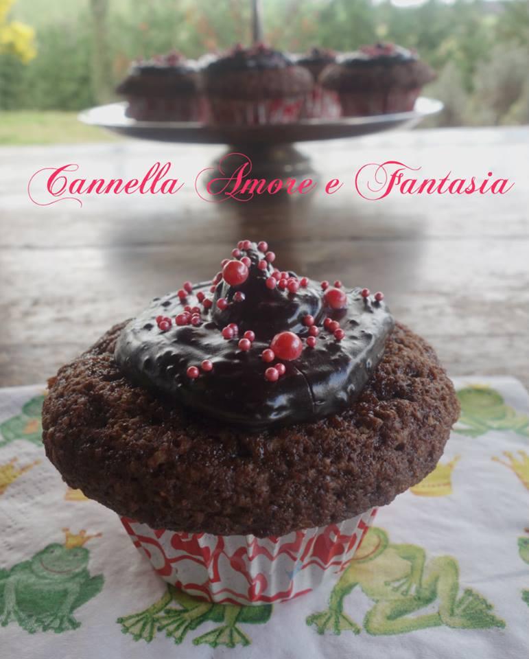 Cupcake delle principesse al triplo cioccolato
