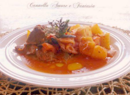 Straccetti di carne alla siciliana con patate