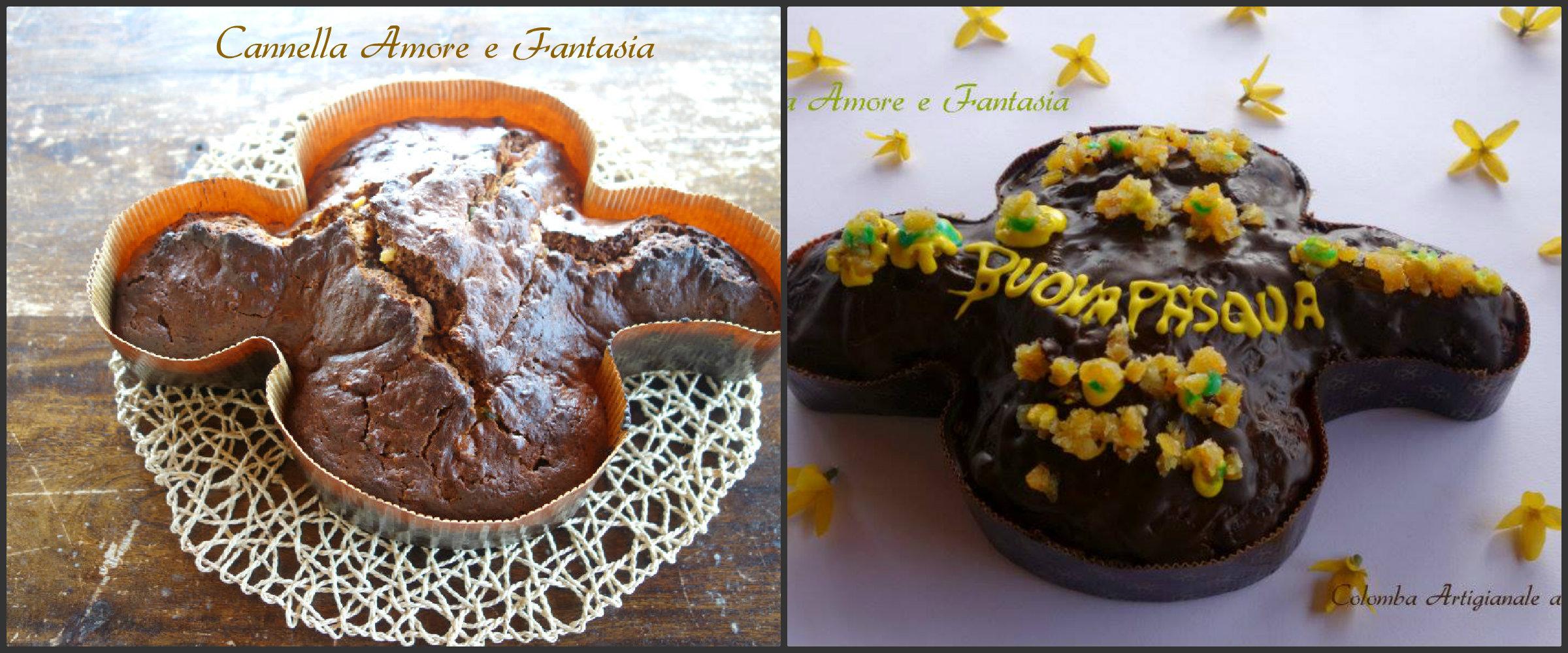 colomba artigianale al cioccolato e arancia Collage