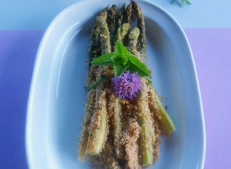 Asparagi verdi gratinati al forno