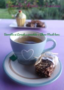 barrette ai cereali e cioccolato o choco musli bars la giusta +